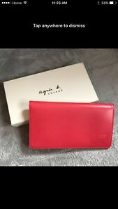 Agnes b leather travel purse / passport and card holder