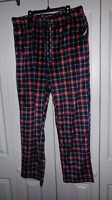 Nautica Mens Plaid  Fleece Pajama Lounge Pants new with tags size large