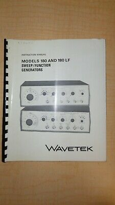 Wavetek 180 180lf Sweep Function Generators Manual 6f B2