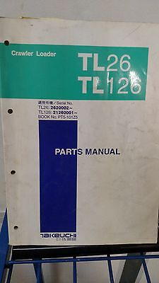 Takeuchi Tl26 Tl126 Crawler Loader Parts Catalog