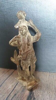 evtl. Einzelstück / indische Gottheit / Hinduismus / Bronze / Messing / selten