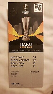 TICKET COLLECTORS FINAL 2019 BAKU CHELSEA  - ARSENAL