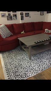 Large sectional with matching ottoman- must be gone sept 30
