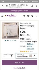 Baby changing table with storage