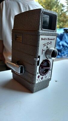 Vintage Movie Camera Bell &Howell Two Twenty Turret style Old Time Retro Video
