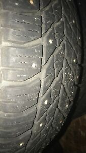 4 Goodyear Ultragrip winter studded tires.