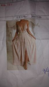 Peach grad prom dress size 6 med