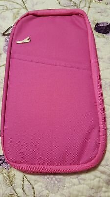 hot fuchsia pink passport Airline ticket wallet Airline Ticket Wallet
