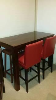 Acacia Hardwood High Bar Dining Table