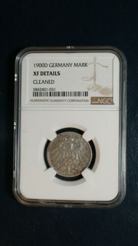 1900 D GERMANY ONE MARK NGC XF 1M Coin PRICED TO SELL RIGHT NOW!