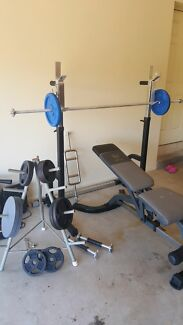 Self standing Squat rack + bench press + weights  Carindale Brisbane South East Preview