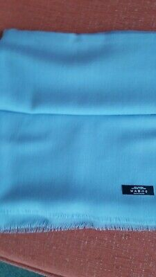 BNWOT Stunning Baby Blue Cashmere Johnstons of Elgin Scarf RRP £149!