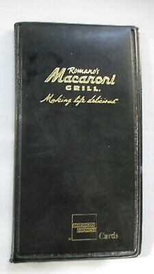 Ramanos Macaroni Grill Guest Check Bill Book Credit Card Holder