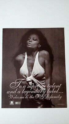 "DIANA ROSS ""TO A SUPREME TALENT""  (1983)  RARE ORIGINAL PRINT PROMO POSTER AD"