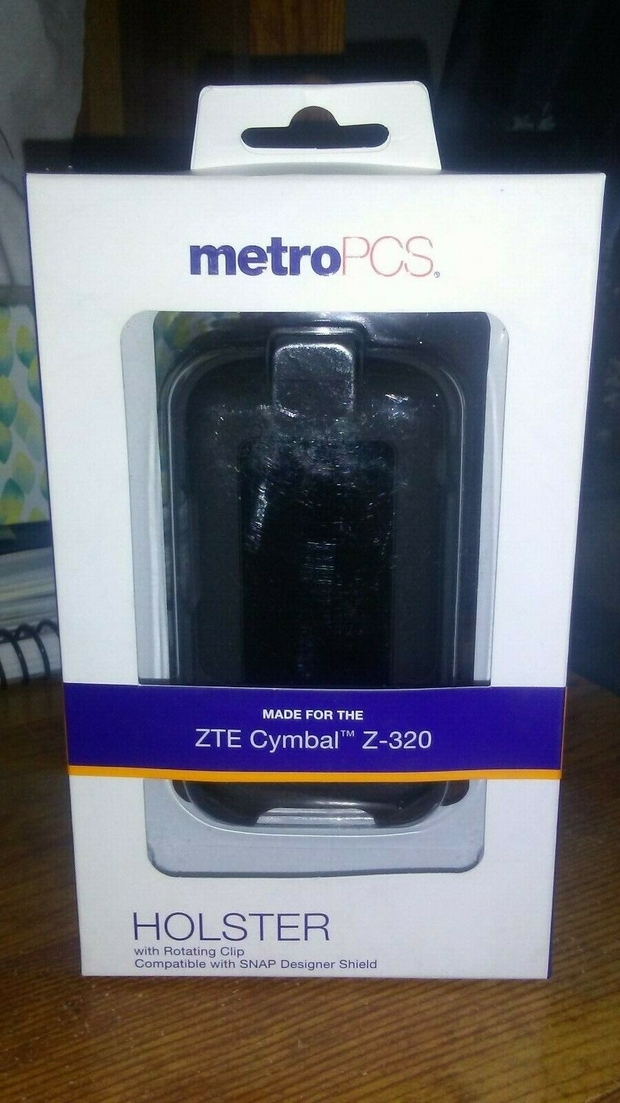 Metro PCS ZTE Cymbal Z-320 holster, flip phone, ROTATING CLI