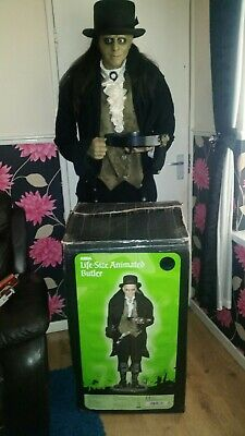HALLOWEEN 6FT LIFESIZE TALKING ANIMATED RARE BUTLER MADE BY GEMMY IN BOX