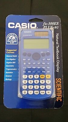 New Casio FX-300ES Scientific Calculator - Blue