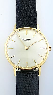 $3814.99 - Vintage 1960s 18k yellow Gold Patek Philippe 2592 Calatrava Manual  Watch