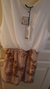 BNWT white and gold dress Franklin Gungahlin Area Preview