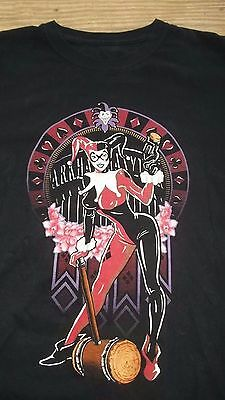 DC Comics HARLEY QUINN T-Shirt Large Batman Cosplay Joker Arkham Asylum
