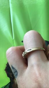 Trinity princess cut diamond ring 10k