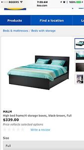 Full/Double bed with drawers