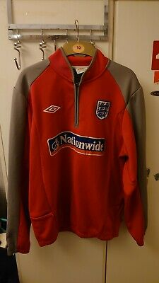 Umbro England Fleece Zip Neck Football Training Top Jacket Size L Nationwide -
