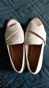 Leather white sandals - Trenery size 39