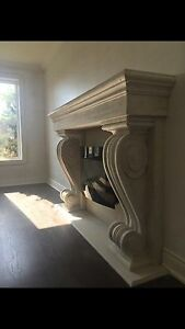 FREE* Installation this WEEK  fireplace mantels stone