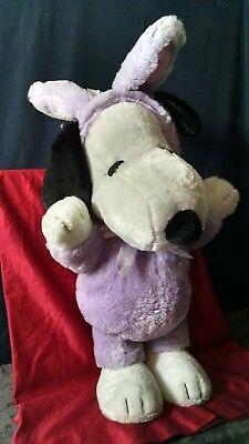 Large Snoopy Easter Purple Bunny Stuffed Animal Plush Toy 24 inch tall - Large Snoopy Stuffed Animal