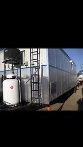 2017 10x34 tri axle wheeled well site trailer