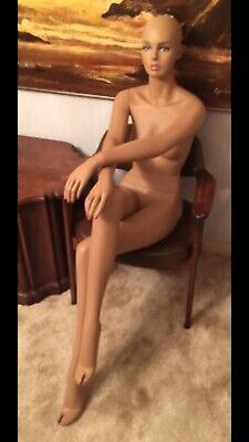 Used Realistic Seated Female Mannequin