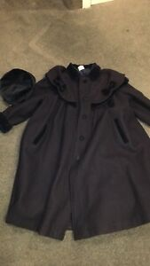 Girls size 10/12 dress coat-navy blue