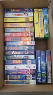 Walt Disney VHS PAL videos with Sanyo VHS Player