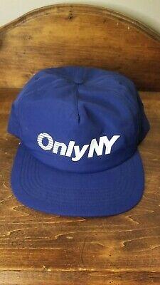 Only NY Streetwear Snapback Hat Streetwear Cap Logo Nylon Rare USA Made Vtg