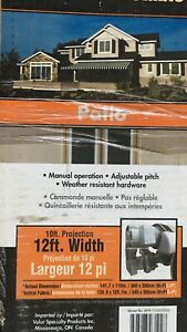 BRAND NEW IN BOX HIGH QUALITY MANUAL AWNING12x10