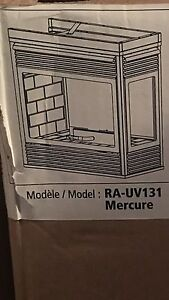 3 sided gas fireplace BRAND NEW IN BOX
