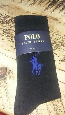 Polo Ralph Lauren Mens socks 3 pairs size 6-11 Brand New (3 colours)