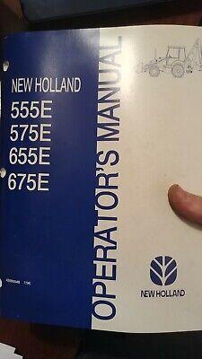 New Holland 555e 575e 655e 675e Backhoe Loader Operation Maintenance Manual