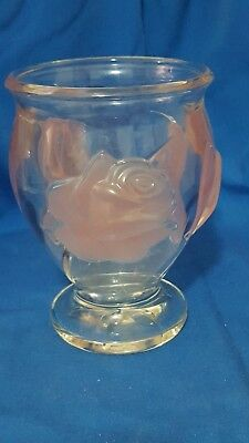Frosted Rose Glass Vase Free Shipping TeleFlora France Heavy
