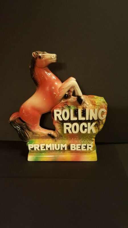 Vintage ROLLING ROCK Premium Beer Chalk Sign Back Bar Advertising