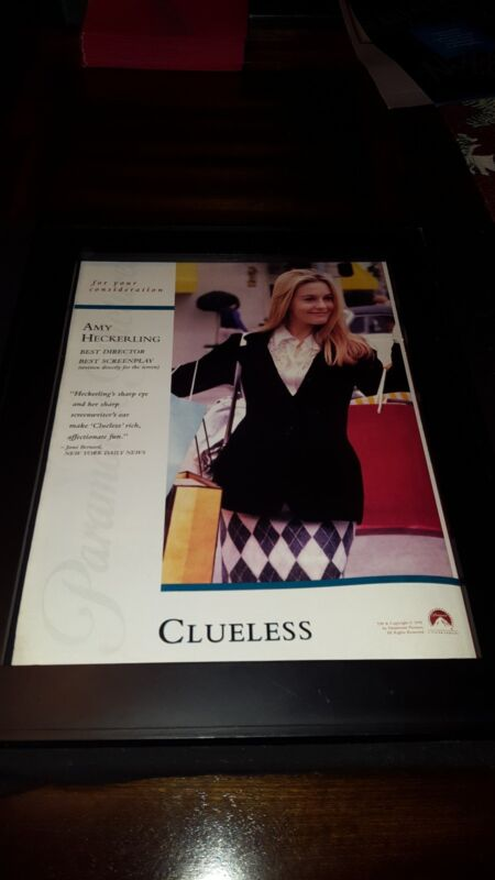 Clueless Rare Original Best Director Academy Awards Promo Poster Ad Framed!