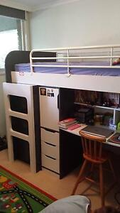 Bunk bed with desk and storage. Broadbeach Waters Gold Coast City Preview