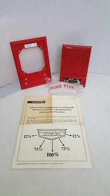 New Vintage Rare Est Edwards 892-2b-001 Fire Alarm Hornstrobe