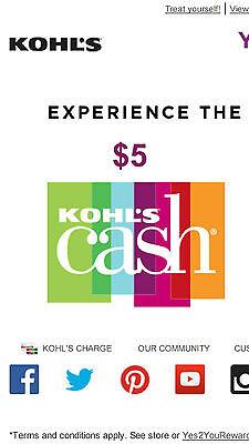 4X  5 Off Kohls Cash Rewards   Expires 07 31 2017    20 Value