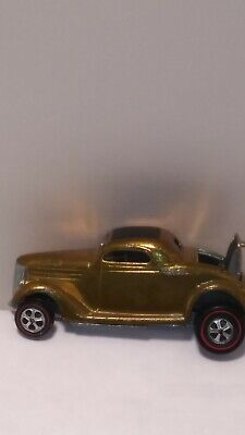 Hot wheels redline classic 36 ford coupe gold