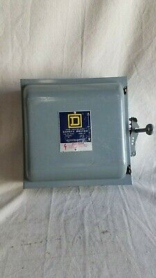 Square D Double Throw Not Fusible Cat. 82352 60a 240v 3 P0le Safety Switch