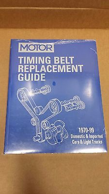 Motor Timing Belt Replacement Guide, 1970-1999 Domestic & Imported