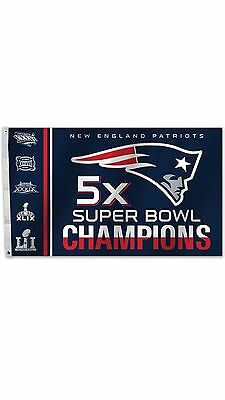 NFL New England Patriots Super Bowl LI 51 Champions 5X Flag 3x5ft