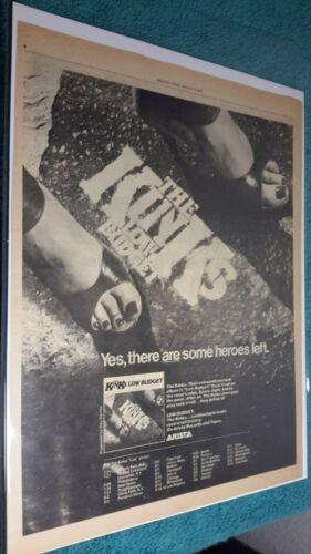 The Kinks (1979) Original 13X10 Album Release Low Budget Advert + Tour Schedule